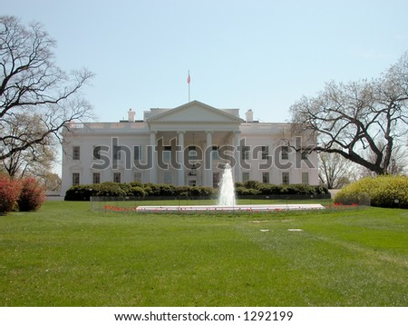 White House located in Washington D.C. - stock photo