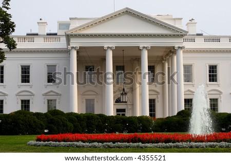 White House on Pennslyvania Avenue in Washington DC. - stock photo