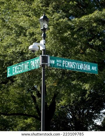 White House 1600 Pennsylvania Ave , Washington DC. - stock photo