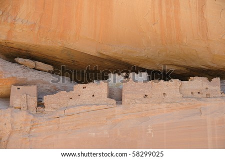 White House Ruins in Canyon De Chelly National Monument - stock photo