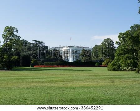 White House South Lawn Washington, DC - stock photo