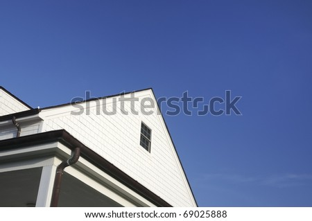 White House Top Section - stock photo