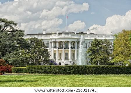 White House Washington DC view - stock photo