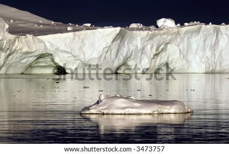 White ice - stock photo