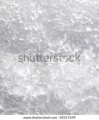 White ice. - stock photo