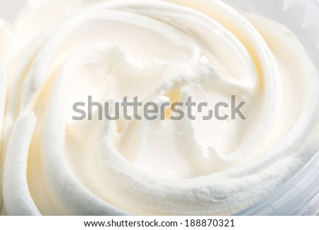 white ice cream texture macro background - stock photo
