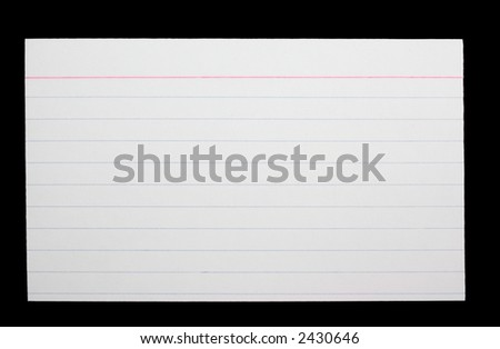 White index card - stock photo