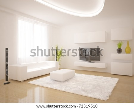 white interior - stock photo