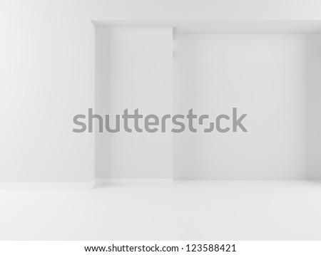 white interior background - stock photo