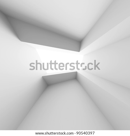 White Interior Background - stock photo