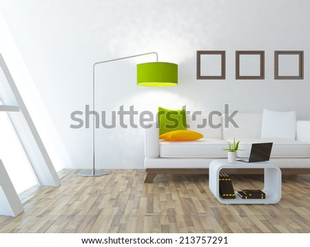 white interior of a room