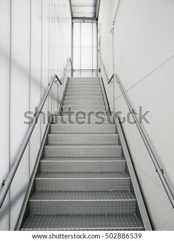 White interior stairs within clinical hospital
