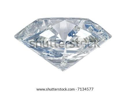 White isolated diamond - stock photo