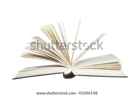 white isolated opened book