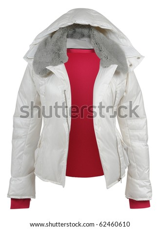 white jacket - stock photo