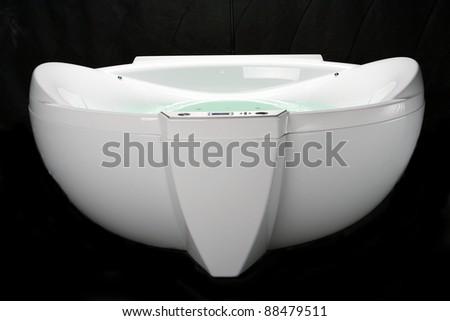 White jacuzzi - stock photo