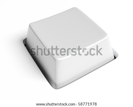 white key - stock photo