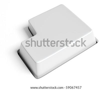 white key - stock photo