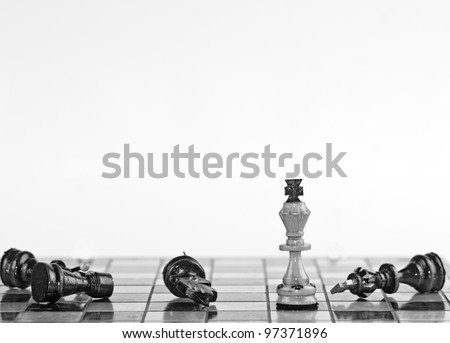 White King in the foreground - stock photo