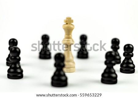 White King surrounded by Enemies