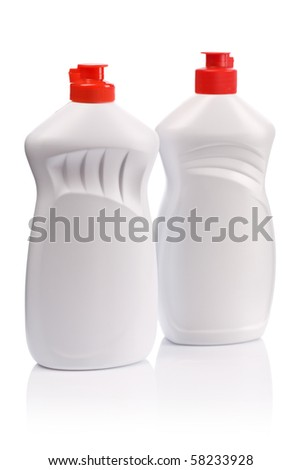 white kitchen bottles of gel