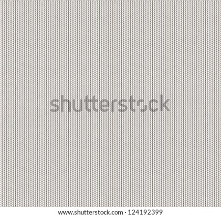 white knitted seamless texture - stock photo