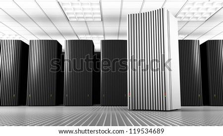 White Knowledge Tower - stock photo