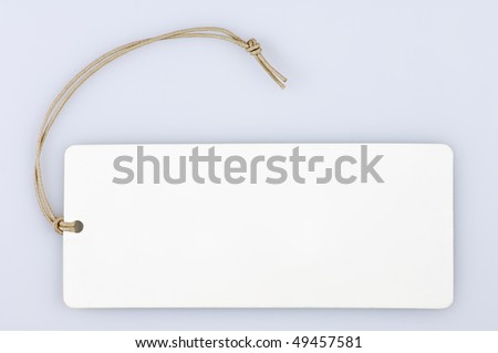 white label with string to write text - stock photo