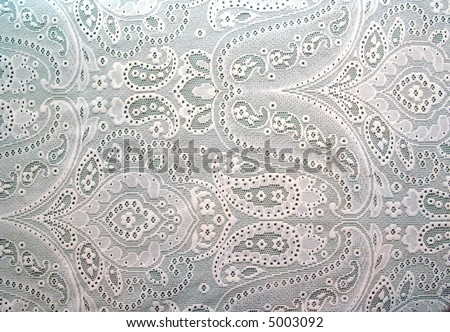 white lace background texture or wallpaper - stock photo