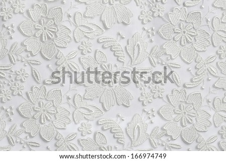 White lace texture background - stock photo