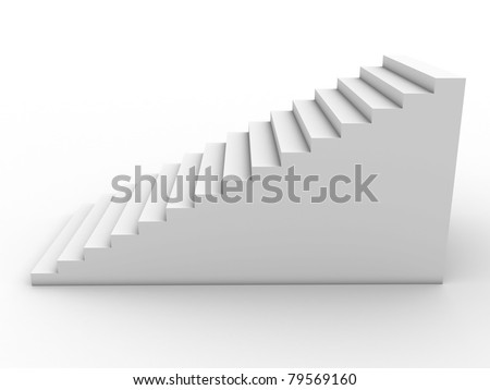 White Ladder on white background ?1 - stock photo
