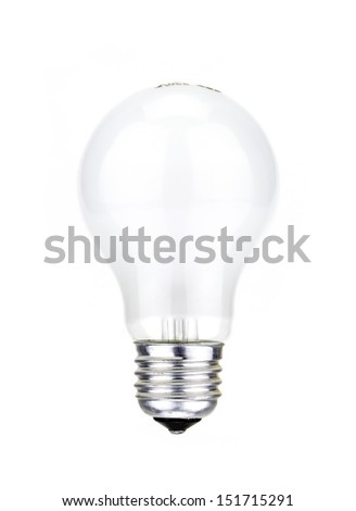 white lamp in a white background