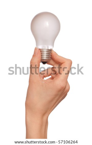 white lamp in the woman's hand as a symbol of light