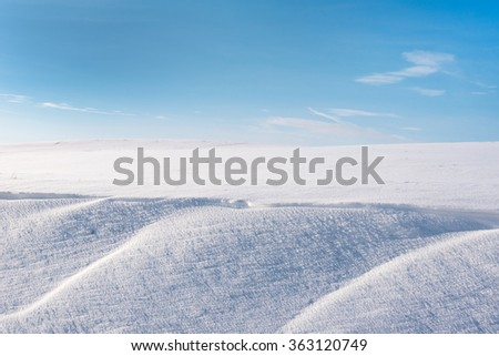 White land in winter time.