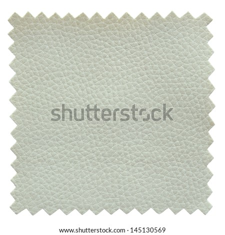 white leather samples texture - stock photo