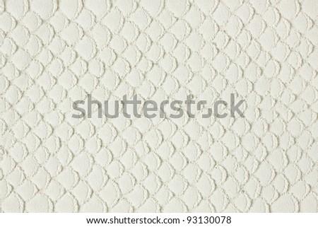 white leather snake skin texture - stock photo