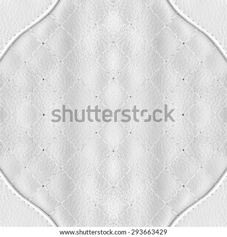 White leather suede with sewn seams background. - stock photo