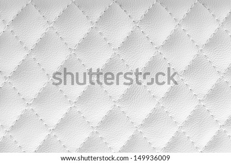 White leather texture for background - stock photo