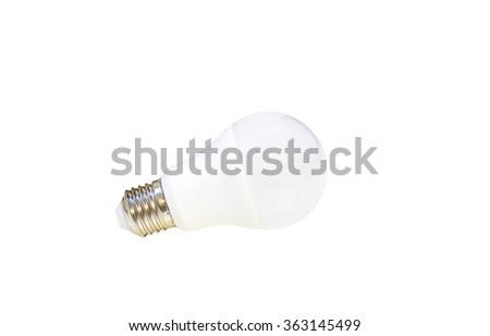 white LED light bulb isolated on white background - stock photo