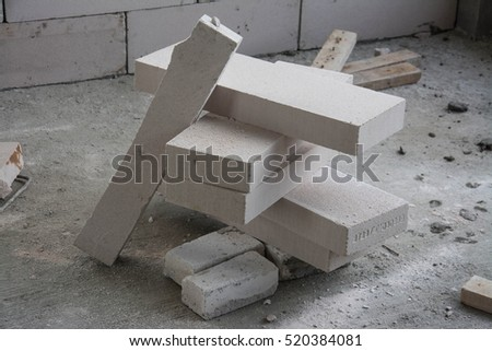White Light Weight Concrete Block