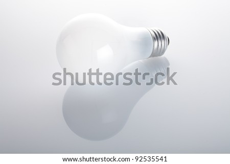 White Lightbulb Isolated on White Background - stock photo