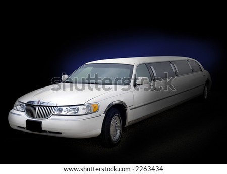 White limo with bluish outglow