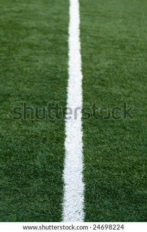 white line on a football field
