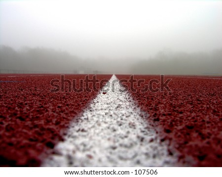 white line on red #2 - stock photo