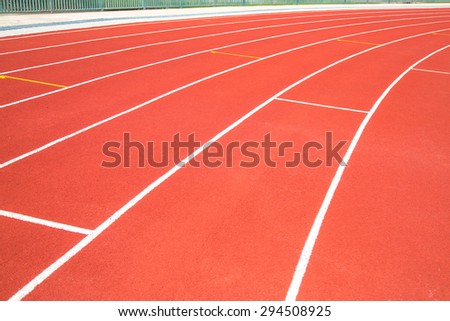 white line on red track texture background
