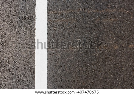white line on the new road