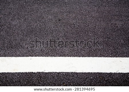 white line on the road texture. - stock photo