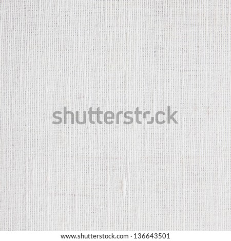 White linen canvas texture - stock photo