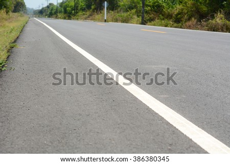 White lines on the road