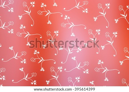 white little petals on red  background - flower background - abstract design